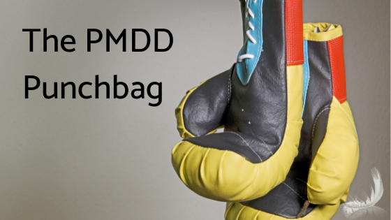 The PMDD Punchbag - boxing gloves showing the pressure of PMDD on loved ones